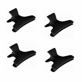 Pinces crocodiles noires x4